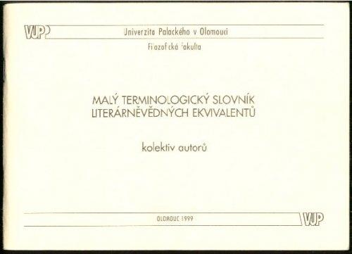 Malý terminologický slovník literárněvědných ekvivalentů